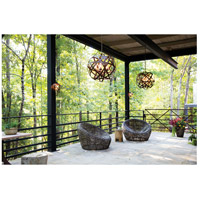 Hinkley 29705VI Carson 5 Light 27 inch Vintage Iron Outdoor Chandelier, Open Air alternative photo thumbnail