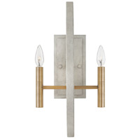 Euclid 2 Light 10 inch Cement Gray Sconce Wall Light