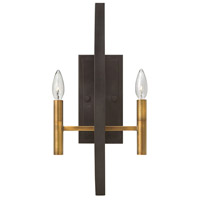 Euclid 2 Light 10 inch Spanish Bronze Sconce Wall Light