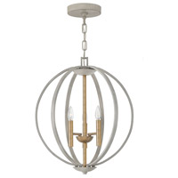 Euclid 3 Light 20 inch Cement Gray Foyer Light Ceiling Light