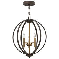 Hinkley 3463SB Euclid 3 Light 20 inch Spanish Bronze/Heirloom Brass Chandelier Ceiling Light
