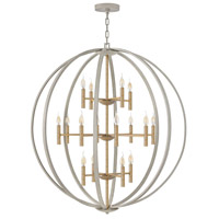 Hinkley 3464CG Euclid 16 Light 44 inch Cement Gray/Heirloom Brass Chandelier Ceiling Light