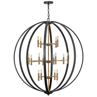 Hinkley 3465SB Euclid 16 Light 52 inch Spanish Bronze/Heirloom Brass Chandelier Ceiling Light