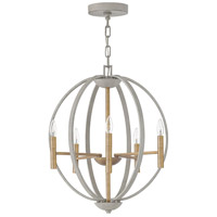 Hinkley 3466CG Euclid 6 Light 21 inch Cement Gray Foyer Chandelier Ceiling Light