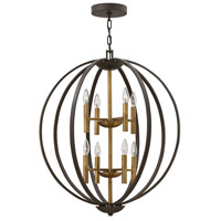 Hinkley 3468SB Euclid 8 Light 28 inch Spanish Bronze/Heirloom Brass Chandelier Ceiling Light