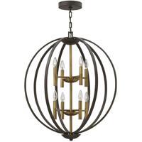 Hinkley 3468SB Euclid 8 Light 28 inch Spanish Bronze/Heirloom Brass Foyer Light Ceiling Light