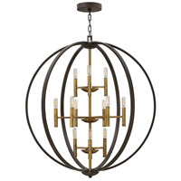 Hinkley 3469SB Euclid 12 Light 36 inch Spanish Bronze Foyer Light Ceiling Light