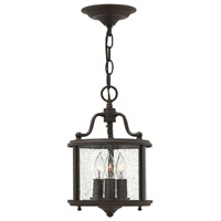 Hinkley 3470OB Gentry 3 Light 8 inch Olde Bronze Foyer Ceiling Light in Clear Seedy Panels