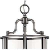 Hinkley 3470PW Gentry 3 Light 8 inch Pewter Foyer Light Ceiling Light in Clear Rounded Panels alternative photo thumbnail