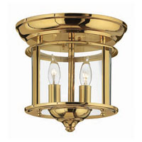 Hinkley Lighting Gentry 2 Light Semi Flush in Polished Brass 3472PB