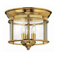 Hinkley Lighting Gentry 3 Light Semi Flush in Polished Brass 3473PB