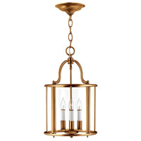 Gentry 4 Light 12 inch Heirloom Brass Foyer Ceiling Light in Clear Rounded Panels, Clear Rounded Panels Glass