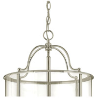 Hinkley 3478PN Gentry 6 Light 14 inch Polished Nickel Foyer Light Ceiling Light in Clear Rounded Panels, Clear Rounded Panels Glass alternative photo thumbnail