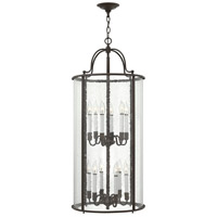 Gentry 12 Light 17 inch Olde Bronze Foyer Light Ceiling Light in Clear Seedy Panels