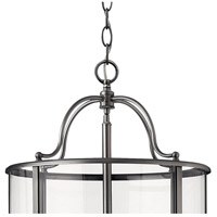 Hinkley 3479PW Gentry 12 Light 17 inch Pewter Foyer Light Ceiling Light in Clear Rounded Panels alternative photo thumbnail