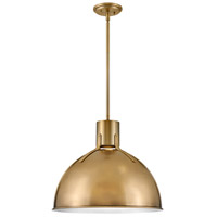 Hinkley 3483HB Argo LED 20 inch Heritage Brass/Textured Black Pendant Ceiling Light