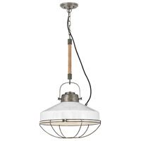 Hinkley 34904BU Brooklyn 1 Light 18 inch Burnished Bronze/Polished White Pendant Ceiling Light