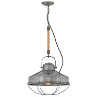 Hinkley 34904RP Brooklyn 1 Light 18 inch Rustic Pewter/French Gray Pendant Ceiling Light