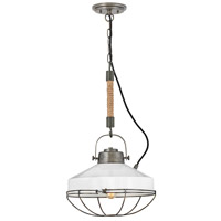 Hinkley 34907BU Brooklyn 1 Light 14 inch Burnished Bronze/Polished White Pendant Ceiling Light