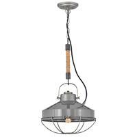 Hinkley 34907RP Brooklyn 1 Light 14 inch Rustic Pewter/French Gray Pendant Ceiling Light