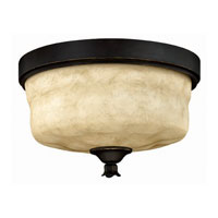 Hinkley Lighting Casa 3 Light Flush Mount in Olde Black 3501OL photo thumbnail