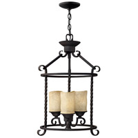 Hinkley 3502OL Casa 3 Light 14 inch Olde Black Foyer Light Ceiling Light