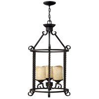 Hinkley 3504OL Casa 3 Light 18 inch Olde Black Foyer Light Ceiling Light