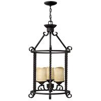 Hinkley 3504OL Casa 3 Light 18 inch Olde Black Foyer Light Ceiling Light