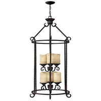 Hinkley 3506OL Casa 6 Light 23 inch Olde Black Foyer Light Ceiling Light