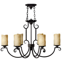 Hinkley 3508OL Casa 6 Light 36 inch Olde Black Chandelier Ceiling Light, Oval