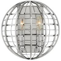 Hinkley 3512PN Terra 2 Light 10 inch Polished Nickel Sconce Wall Light