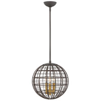 Terra 3 Light 13 inch Oiled Bronze Pendant Ceiling Light