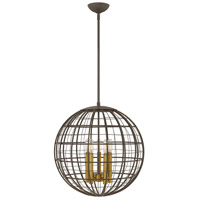 Hinkley 3515OR Terra 5 Light 19 inch Oiled Bronze Pendant Ceiling Light