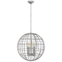 Terra 5 Light 19 inch Polished Nickel Pendant Ceiling Light