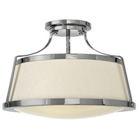 Charlotte 3 Light 20 inch Chrome Foyer Semi-Flush Mount Ceiling Light