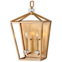 Stinson 2 Light 10 inch Distressed Brass Wall Sconce Wall Light