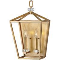 Hinkley 3532DA Stinson 2 Light 10 inch Distressed Brass Sconce Wall Light