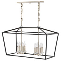 Hinkley 3534BK Stinson 8 Light 34 inch Black Linear Chandelier Ceiling Light