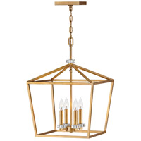 Stinson 4 Light 16 inch Distressed Brass Pendant Ceiling Light