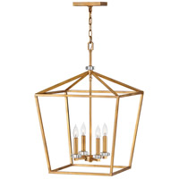 Stinson 4 Light 18 inch Distressed Brass Chandelier Ceiling Light