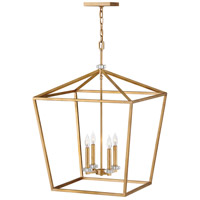 Stinson 4 Light 22 inch Distressed Brass Chandelier Ceiling Light
