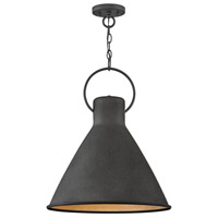 Hinkley 3555DZ Winnie 1 Light 18 inch Aged Zinc with Distressed Black Accents Pendant Ceiling Light