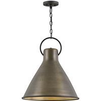 Hinkley 3555DS Winnie 1 Light 18 inch Dark Antique Brass/Textured Black Pendant Ceiling Light