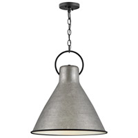 Hinkley 3555RP Winnie 1 Light 18 inch Rustic Pewter/Textured Black Pendant Ceiling Light