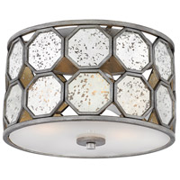 Lara 3 Light 15 inch Brushed Silver Foyer Flush Mount Ceiling Light