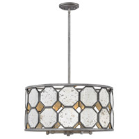 Lara 5 Light 22 inch Brushed Silver Chandelier Ceiling Light