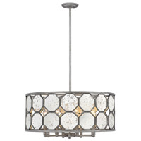 Lara 8 Light 26 inch Brushed Silver Chandelier Ceiling Light