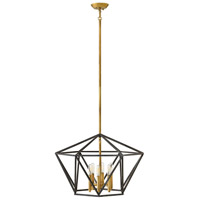 Hinkley 3576DZ Theory 6 Light 24 inch Aged Zinc Chandelier Ceiling Light, Single Tier