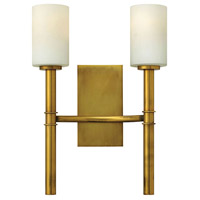 Margeaux 2 Light 13 inch Vintage Brass Sconce Wall Light