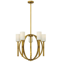 Hinkley 3585VS Margeaux 5 Light 26 inch Vintage Brass Chandelier Ceiling Light